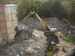 Démolition de bâtiment Ploërmel résidence du soleil levant pour BRETAGNE SUD HABITAT